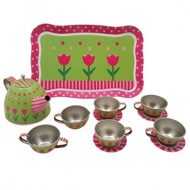 Servies Tin Roze en Groen - Playwood