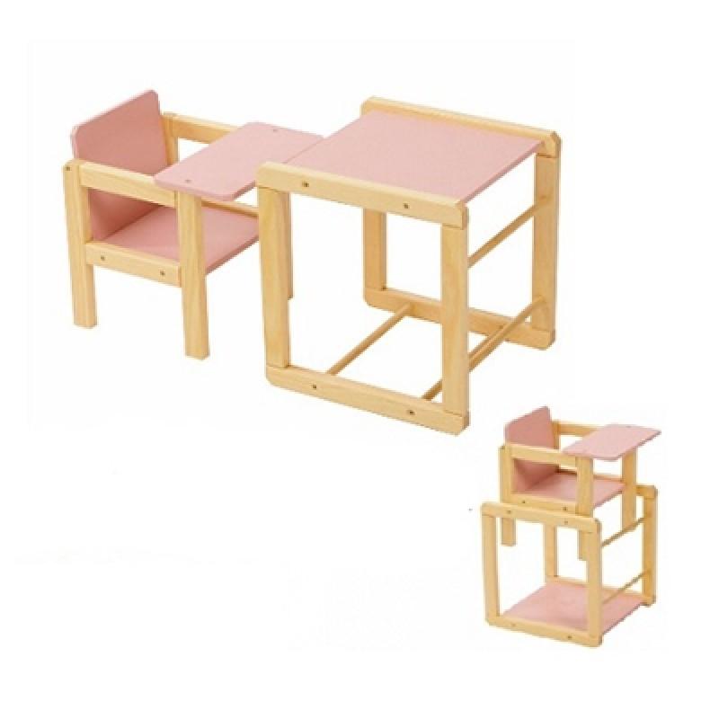 Kinderstoeltjes Met Tafeltje.Houten Poppen Kinderstoel Met Tafel Roze Playwood