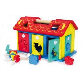 Insteek-huis dieren & vormen