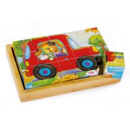 Houten blokkenpuzzel - dierenplezier